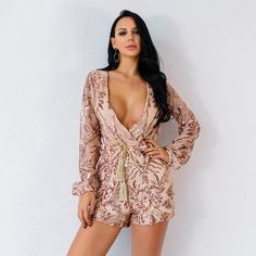 197bd9b8856 Josie Sequin Romper. Long Sleeve PlaysuitSequin PlaysuitPlaysuit  RomperJumpsuitMesh ...