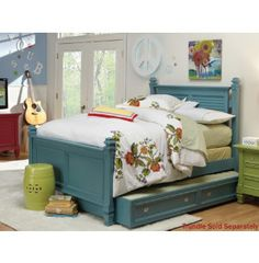 the bed is amazing! would look so good in a kids room! Cannonball Bed, Blue Bedding, Painted Furniture, Blue Grey, Toddler Bed, Kids Room, Beautiful Beds, Repurpose, Bedroom Ideas