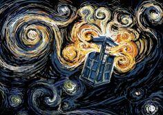 TARDIS meets Vincent Van Gough - Doctor Who