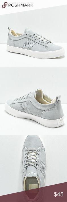 55dfea779e HUF Clive Light Gray   White Skate Shoes New HUF Clive Light Gray   White  Skate