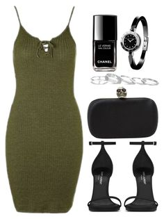 """""""Sin título #12323"""" by vany-alvarado ❤ liked on Polyvore featuring Topshop, Yves Saint Laurent, Alexander McQueen, Kendra Scott, Chanel and Bulgari"""