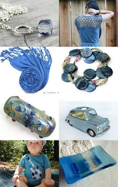 Steel blue hand picked treasures by Hafsa Taher on Etsy--Pinned with TreasuryPin.com