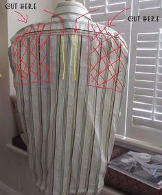 WobiSobi: Men's Shirt to Halter, DIY