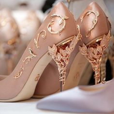 c329a5ad7cf NEW COLLECTION  Shop our Vintage Pink  Eden pump with Swarovski and Rose  Gold Leaves