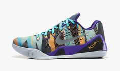 new style 73c1e 278ae Nike Kobe 9 EM Pop Art Camo Official Images and Release Info Court Purple  Reflective Silver Atomic Mango Turquoise 646701 508