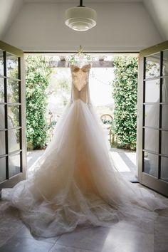 The dreamiest wedding gown... http://www.stylemepretty.com/2015/09/28/romantic-malibu-vineyard-wedding/   Photography: Jana Williams - http://jana-williams.com/