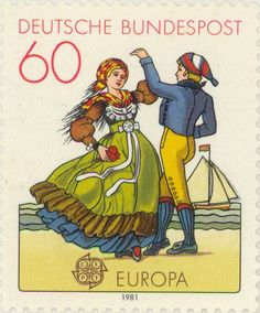 1981 Germany - Dance couple in Friesland costume