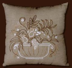Candlewicking Embroidery kit FRUIT BASKET PILLOW COVER