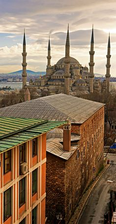 Visit the Blue Mosque  The mosque has a combination of Byzantine and Ottoman features and was built opposite the Hagia Sofia at the beginning of the 17th century. The interior is lined with blue mosaics which create an unusual atmosphere.