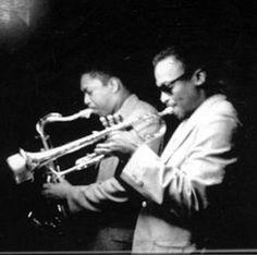 Miles Davis and John Coltrane. Masters.