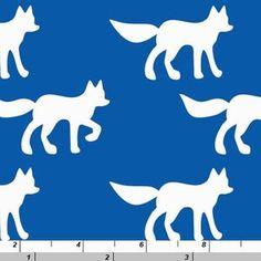 Copenhagen Print Factory House Designer - Silhouettes Organic - Foxes in Cobalt