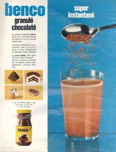 Benco granulé chocolaté, lancé en 1968 par Banania. Paris Match, 15 juin 1968
