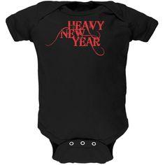 Heavy Metal New Year Black Soft Baby One Piece