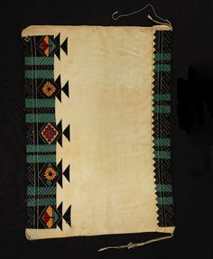 Object Name: Robe Origin: Arizona Made: Hopi Description: Re-embroidered Wedding Robe or shawl; white color with black and green bands, yellow and red rhomboids, yellow flowers and black triangles; white cotton string shawl with wool yarn embroidery. Materials: cotton/wool/kaolin Repository: San Diego Museum Chief Seattle, Embroidery Designs, Embroidery Materials, Plains Indians, Native American, American Indians, Indian Rugs, Diamond Pattern, Wool Yarn