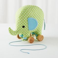 Patterned Pet Pull Toy (Elephant)