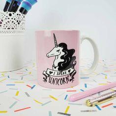 Je parle Licorne Mug - Mug mignon - cadeau pour elle - mignon - Mug rose - meilleur ami cadeau