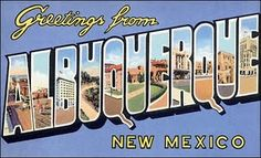 another vintage travel postcard- Albequerque, NM