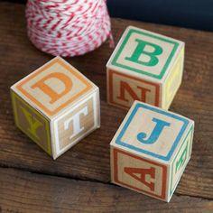 Tektonten Papercraft - Free Papercraft, Paper Models and Paper Toys: Printable Toy Alphabet Blocks