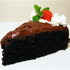 (Chocolate Cake) Wonderful, moist, delicious, and EASY from scratch cake recipe. Do not skip the coffee it makes all the difference!
