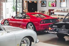 Ferrari 355 GTS manual, Mercedes Benz Pagoda and Porsche 356 a Maserati 3200 Gt, Porsche 356, Collector Cars, Mercedes Benz, Ferrari, Manual, Classic Cars, Automobile, Around The Worlds