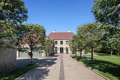 Gorgeous French provincial house nestled on Long Island Sound harbor #house #landscape