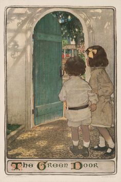 "Jessie Willcox Smith , ""The Green Door"", 1904"