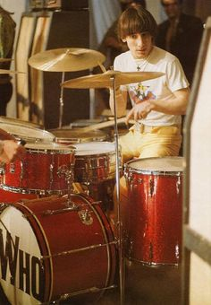The Who's Keith Moon with choirboy hair but usually acting like anything other than a choirboy…