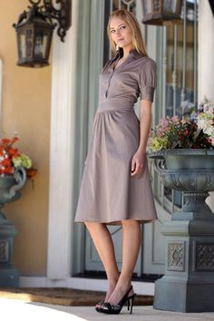 Cute. Business casual. Could lengthen it so that it would be appropriate to wear in conservative areas.