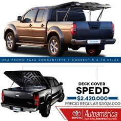 Date gusto y añádele a tu #ToyotaHilux el deck cover speed por un precio increíble. Aprovecha la PROMO de #AccesoriosToyota en #Autoamérica www.autoamerica.com.co