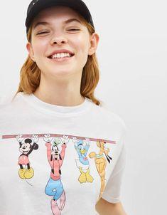 Disney print T-shirt - null - Bershka Israel Fashion Kids, Toddler Boy Fashion, Fall Fashion Outfits, Baby Girl Fashion, Disney Outfits, Boy Outfits, Cute Outfits, Stylish Toddler Girl, T Shirt Painting