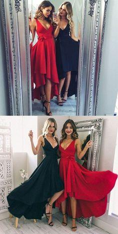 Cute Prom Dresses, Prom Dresses Blue, A-Line Prom Dresses, 2018 Prom Dresses, Navy Prom Dresses Prom Dresses 2019 High Low Bridesmaid Dresses, Prom Dresses Under 100, Navy Blue Prom Dresses, V Neck Prom Dresses, Prom Dresses 2018, A Line Prom Dresses, Dress Red, Dress Black, Outfits