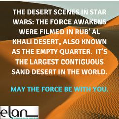 The desert scenes in...