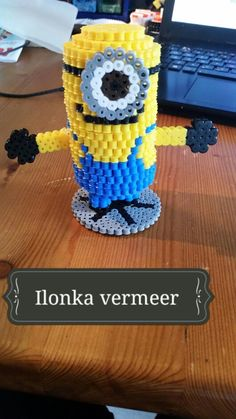3D Minion hama beads by ilonka vermeer
