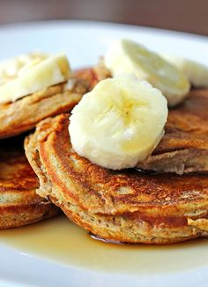 Skinny Mini Banana Pancakes!!! Perfect for a healthy breakfast!!