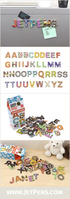 The Galison Alphabet Magnet Set contains 40 magnets printed with eye-catching patterns from the Cooper Hewitt National Design Museum!