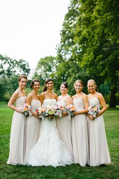 Taupe Bridesmaids Dresses   photography by http://www.pencarlsonblog.com/