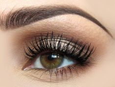 great #neutral day-to-night look (add strong lip). soft #browns strong #lash