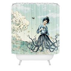 I don't use shower curtains, but this is cool! Belle13 Sea Fairy Shower Curtain | DENY Designs Home Accessories
