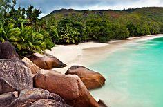 Anse Lazio, a beach in the Seychelles Islands