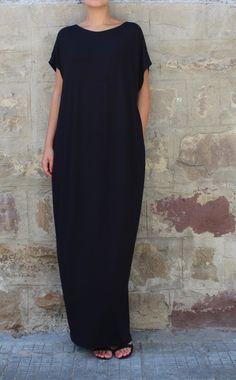 Caftan Black Dress Oversized dress Backless by cherryblossomsdress Great Gatsby Outfits, Mode Boho, Oversized Dress, Caftan Dress, Mode Outfits, Girly Outfits, Fall Outfits, Summer Outfits, Mode Style