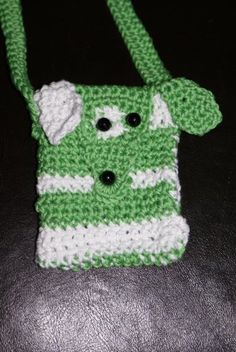 crochetted mobile phone bag