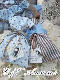 G & V Wedding Μπομπονιέρες Βάπτισης Θεσσαλονίκη www.gamosorganosi.gr Gift Wrapping, Gifts, Gift Wrapping Paper, Presents, Wrapping Gifts, Favors, Gift Packaging, Gift