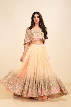 The Stylish And Elegant Lehenga Choli In Pink Colour Looks Stunning And Gorgeous With Trendy And Fashionable Embroidery . The Georgette Fabric Party Wear Lehenga Choli Looks Extremely Attractive And C. Indian Gowns, Indian Attire, Indian Wear, Indian Style, Indian Bridal Lehenga, Indian Wedding Outfits, Indian Outfits, Indian Designer Outfits, Designer Dresses