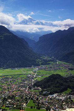 View towards Wilderswil from Harder Kulm Interlaken, Switzerland