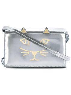 CHARLOTTE OLYMPIA 'Feline' Shoulder Bag. #charlotteolympia #bags #shoulder bags #leather #