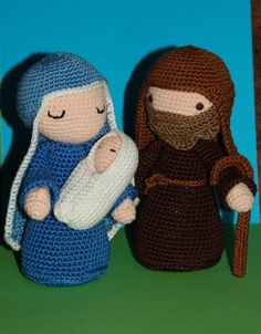 Crochet Christmas Nativity scene Mary Joseph and by DutchDiva85, $39.00