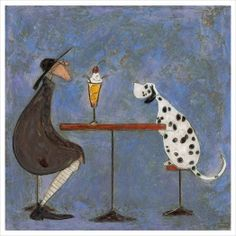 A Date With Hattie - sign up to our newsletter to get 10% off this & all of our art prints