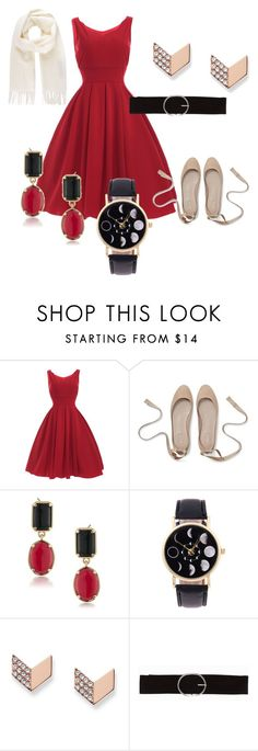 Woman in Red by salevine12 on Polyvore featuring FOSSIL, 1st & Gorgeous by Carolee, Vivienne Westwood and Vero Moda