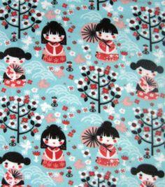 Anti Pill Fleece Print- Beautiful Girl: fleece fabric: fabric: Shop   Joann.com