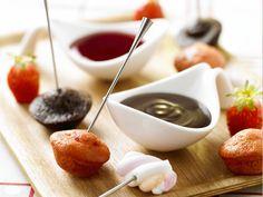 Fondue fraises – chocolat #fondue #fraise #chocolat #kercadelac #recette #gourmandise